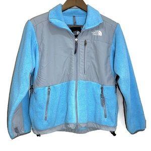 The North Face polartec fleece jacket blue